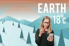 Περιβαλλοντική έννοια συντήρησης οικολογίας γήινου κλίματος Στοκ εικόνες με δικαίωμα ελεύθερης χρήσης