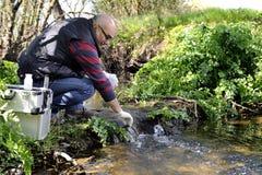 Περιβαλλοντική μελέτη ρύπανσης μιας σειράς μαθημάτων νερού Στοκ Εικόνες