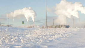 Περιβαλλοντικός άνθρακας ρύπανσης το χειμώνα φιλμ μικρού μήκους