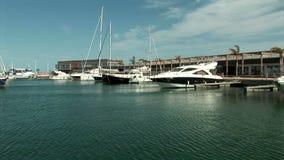 Περιβαλλοντικός από μέσα από Marina de Las Salinas απόθεμα βίντεο