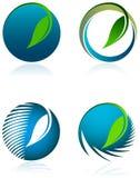 Περιβαλλοντικό σύνολο λογότυπων Στοκ Φωτογραφίες
