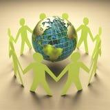 Περιβαλλοντικό ταξίδι ανησυχίας και επιχειρήσεων διανυσματική απεικόνιση