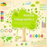 Περιβαλλοντικό Infographic διανυσματική απεικόνιση