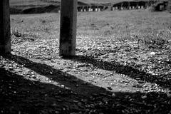 Περιβλήματα σφαιρών στη σειρά πυροβολισμού δύο βράχου Στοκ φωτογραφία με δικαίωμα ελεύθερης χρήσης