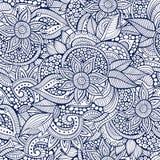 Περιγραμματικός διακοσμητικός floral διακοσμητικός doodles Στοκ Φωτογραφία