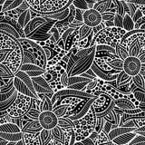 Περιγραμματικός διακοσμητικός floral διακοσμητικός doodles Στοκ εικόνες με δικαίωμα ελεύθερης χρήσης