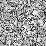 Περιγραμματικός διακοσμητικός floral διακοσμητικός doodles Στοκ φωτογραφία με δικαίωμα ελεύθερης χρήσης