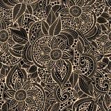 Περιγραμματικός διακοσμητικός floral διακοσμητικός doodles Στοκ Φωτογραφίες