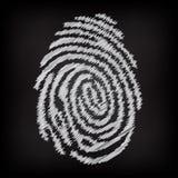 Περιγραμματικό δακτυλικό αποτύπωμα Στοκ φωτογραφία με δικαίωμα ελεύθερης χρήσης