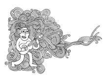 Περιγραμματικό σημειωματάριο Doodles μουσικής Hand-drawn Στοκ εικόνες με δικαίωμα ελεύθερης χρήσης