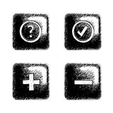 περιγραμματικό τετράγωνο κουμπιών Ελεύθερη απεικόνιση δικαιώματος