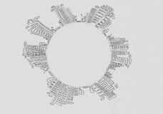 Περιγραμματικό υπόβαθρο Στοκ φωτογραφίες με δικαίωμα ελεύθερης χρήσης