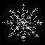 Περιγραμματικό snowflake στο υπόβαθρο πινάκων Στοκ φωτογραφία με δικαίωμα ελεύθερης χρήσης