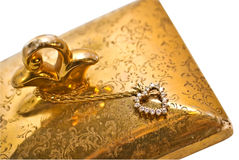 περιδέραιο καρδιών διαμαντιών Στοκ εικόνες με δικαίωμα ελεύθερης χρήσης