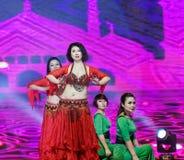 Περιδέραιο-τουρκικός χορός κοιλιών ύφους μαργαριταριών και νεφριτών Στοκ εικόνα με δικαίωμα ελεύθερης χρήσης