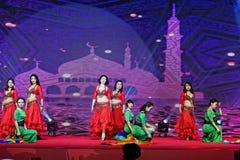 Περιδέραιο-τουρκικός χορός κοιλιών ύφους μαργαριταριών και νεφριτών Στοκ Φωτογραφίες