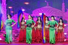 Περιδέραιο-τουρκικός χορός κοιλιών ύφους μαργαριταριών και νεφριτών Στοκ Εικόνες