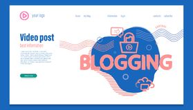 Περιεκτικότητα σε Blog, έμβλημα έννοιας για τα bloggers Blogging, μετα έννοια για ιστοσελίδας, τηλεοπτικό, ιστοχώρος και κινητή ε απεικόνιση αποθεμάτων