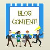 Περιεκτικότητα σε Blog κειμένων γραψίματος λέξης Επιχειρησιακή έννοια για τις θέσεις σε μια συνεχή ρέοντας σελίδα ή τους μεμονωμέ απεικόνιση αποθεμάτων
