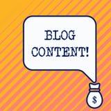 Περιεκτικότητα σε Blog κειμένων γραψίματος λέξης Επιχειρησιακή έννοια για τις θέσεις σε μια συνεχή ρέοντας σελίδα ή τη μεμονωμένη απεικόνιση αποθεμάτων