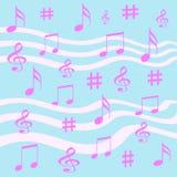 περικάλυμμα σημειώσεων μουσικής δώρων Στοκ Εικόνα