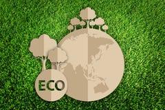 Περικοπή εγγράφου του eco Στοκ φωτογραφίες με δικαίωμα ελεύθερης χρήσης