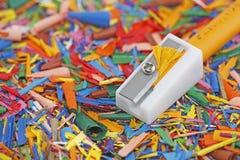 Ξύστρα για μολύβια κεριών Στοκ εικόνα με δικαίωμα ελεύθερης χρήσης
