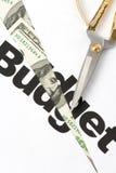 περικοπή προϋπολογισμού Στοκ Εικόνα