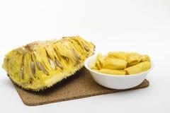 Περικοπή jackfruit και λοβοί Στοκ Εικόνα