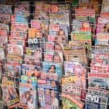 Περιοδικά σε μια στάση ειδήσεων στην Κύπρο Στοκ Φωτογραφίες