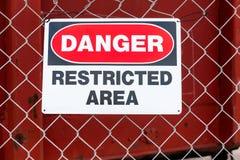 Περιορισμένος κίνδυνος περιοχής στοκ φωτογραφίες