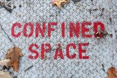 Περιορισμένο διαστημικό σημάδι Στοκ Εικόνες