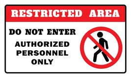 Περιορισμένο σημάδι περιοχής ελεύθερη απεικόνιση δικαιώματος