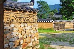 Περιοχές παγκόσμιων κληρονομιών της ΟΥΝΕΣΚΟ της Κορέας - λαϊκό χωριό Hahoe στοκ εικόνα
