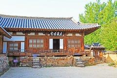 Περιοχές παγκόσμιων κληρονομιών της ΟΥΝΕΣΚΟ της Κορέας - λαϊκό χωριό Hahoe στοκ εικόνα με δικαίωμα ελεύθερης χρήσης