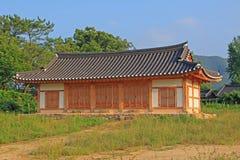 Περιοχές παγκόσμιων κληρονομιών της ΟΥΝΕΣΚΟ της Κορέας - λαϊκό χωριό Hahoe Στοκ Φωτογραφίες