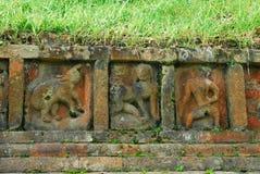 Περιοχές Bihar Archeological Paharpur στο Μπανγκλαντές Στοκ Φωτογραφίες