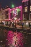 Περιοχή Άμστερνταμ κόκκινου φωτός Cassa Rosso θεάτρων Στοκ Εικόνες