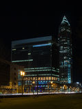 Περιοχή έκθεσης με τον πύργο εμπορικών εκθέσεων, Messeturm, στη Φρανκφούρτη, Γερμανία, στοκ εικόνες