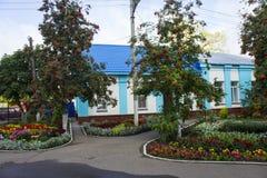 Περιοχή αναψυχής στο έδαφος της Ορθόδοξης Εκκλησίας στην πόλη Petrovsk, περιοχή του Σαράτοβ στοκ εικόνα με δικαίωμα ελεύθερης χρήσης