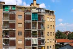 Περιοχή αυγής στο Τουρίνο, Ιταλία στοκ εικόνα