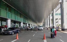 Περιοχή επαναλείψεων επιβατών του αερολιμένα στοκ εικόνα