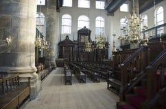 Περιοχή διατάξεων θέσεων στην παλαιά πορτογαλική συναγωγή, Άμστερνταμ Στοκ εικόνα με δικαίωμα ελεύθερης χρήσης