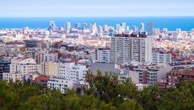 Περιοχή κατοικιών στη Βαρκελώνη Στοκ φωτογραφίες με δικαίωμα ελεύθερης χρήσης
