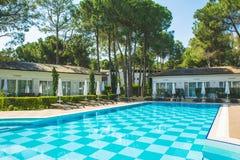 Περιοχή λιμνών στο ξενοδοχείο πολυτελείας, Beldibi, Τουρκία στοκ εικόνες με δικαίωμα ελεύθερης χρήσης