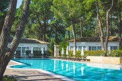 Περιοχή λιμνών στο ξενοδοχείο πολυτελείας, Beldibi, Τουρκία στοκ φωτογραφίες