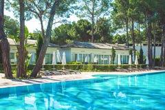 Περιοχή λιμνών στο ξενοδοχείο πολυτελείας, Beldibi, Τουρκία στοκ εικόνες