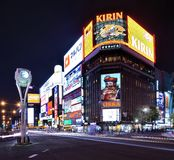 Περιοχή νυχτερινής ζωής Sapporo Στοκ Φωτογραφία