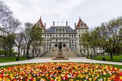 Περιοχή οικοδόμησης Capitol στο πάρκο ανατολικού Capitol στο Άλμπανυ, Νέα Υόρκη Στοκ Φωτογραφία