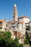 Περιοχή παγκόσμιων κληρονομιών της ΟΥΝΕΣΚΟ παλατιών Diocletian στη διάσπαση, Δαλματία Στοκ εικόνα με δικαίωμα ελεύθερης χρήσης